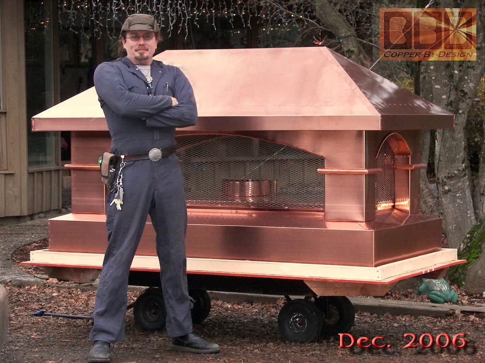 Fireplace Design fireplace chimney cap : CBD's Copper Chimney Caps page #3