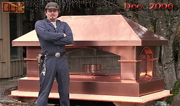 David Rich W/Tuscan Style Copper Chimney Cap For Cross In Chester, New  Jersey
