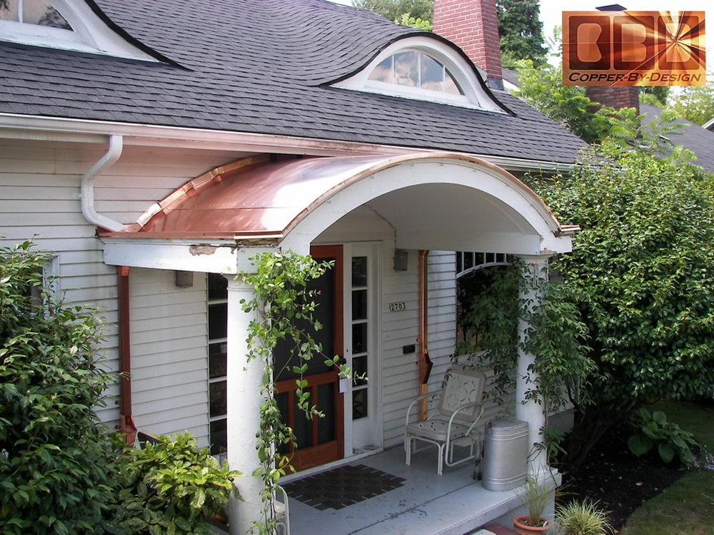 Cbd 39 s custom copper roof covering pages for Entryway roof designs