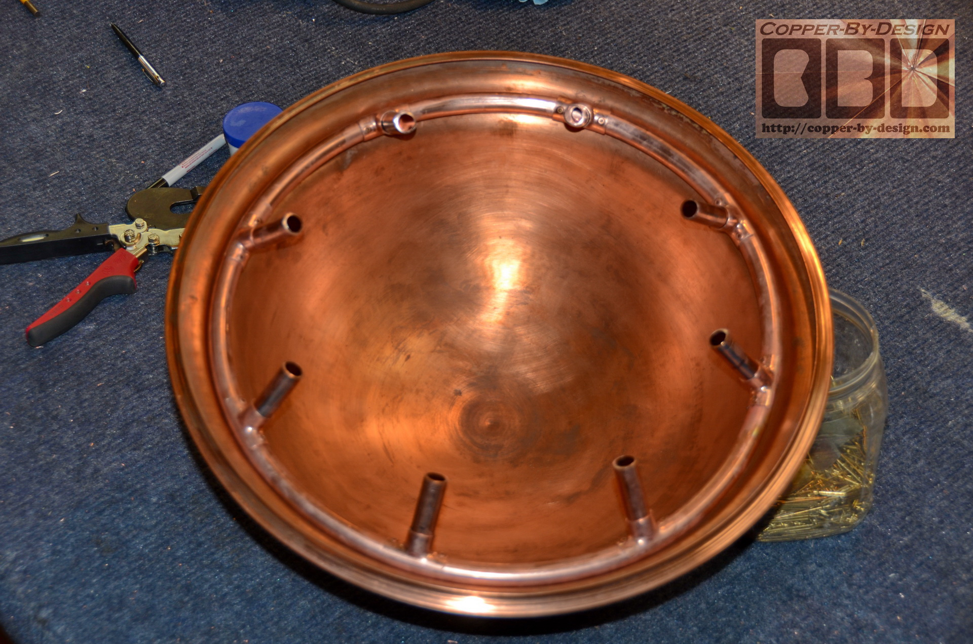Copper Derby Cover : Cbd s van der merwe vented fire pit cover page