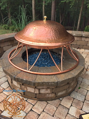 Copper fire-pit cover
