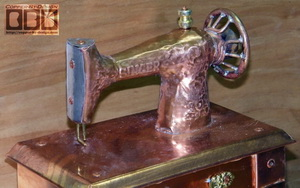 copper sewing machine headstone