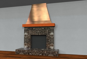 Cbd S Custom Copper Sheet Metal Fireplace Mantle Work Page