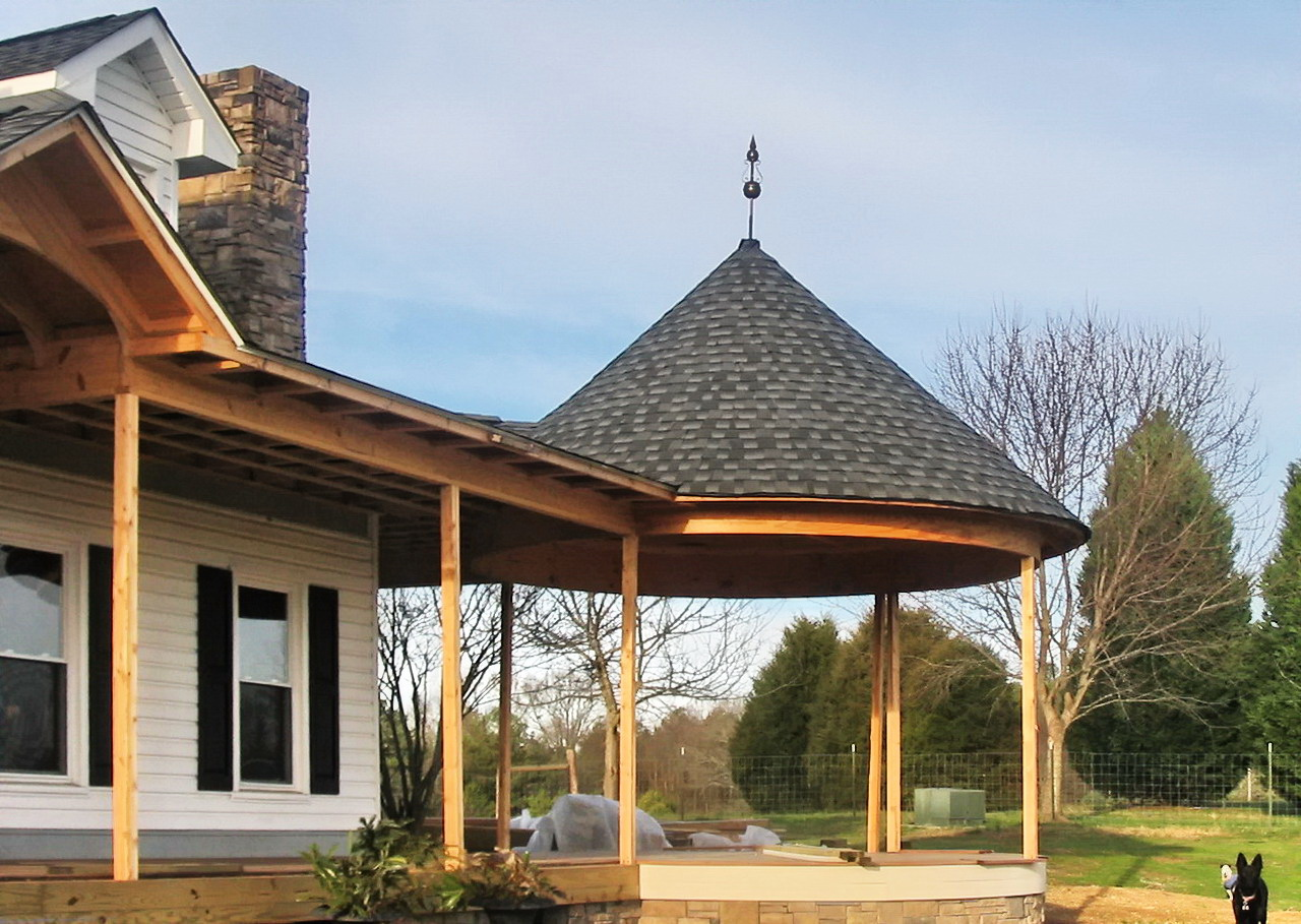 Cbd 39 s massey turret roof cap for House plans with gazebo porch