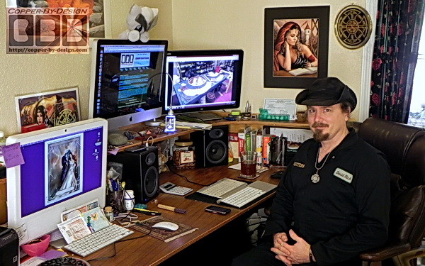 David at his desk